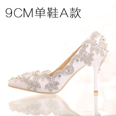 Women For Shoes Shoes Waterproof Crystal White Heels Shoes 9Cm Bride Heel Sandals Party High Diamond Wedding VIVIOO Prom Colorful 6 Crystal Wristband qpawIIC
