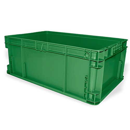 Ssi Schaefer Af241509 Xagn1 Straight Wall Container  Polyethylene  Green  Capacity 55 Lb  24  Length X 15  Width X 9 5  Height