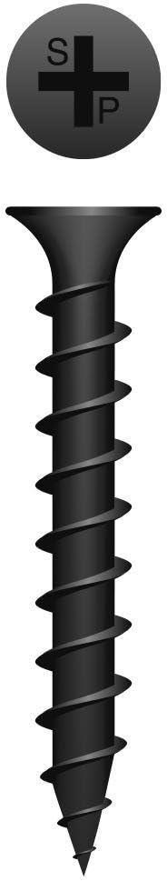 6x3//4 Phillips Bugle Head Coarse Thread Black Phosphate Coated Drywall Screw #137958 15000