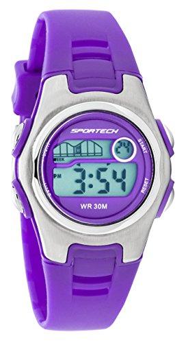 Sportech Unisex   Electric Purple Racer Digital Sport Watch  