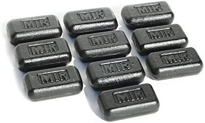 miR Set of 3 Lb Iron Weights for Weighted Vest 3LBS – 60LBS