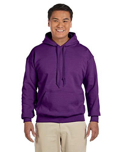 Gildan 18500 - Classic Fit Adult Hooded Sweatshirt Heavy Blend - First Quality - Purple - Large