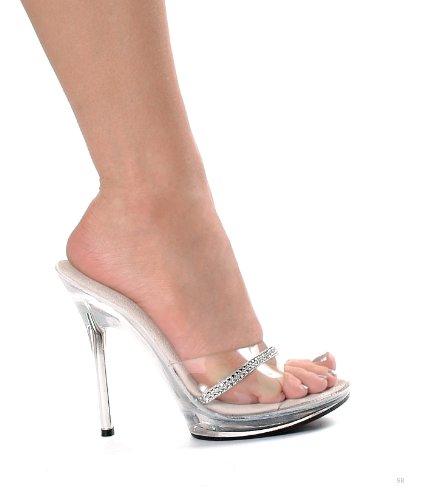 Ellie 5 Inch Heel - Ellie Shoes Women's 5 Inch Heel Rhinestone Mule (Clear;12)