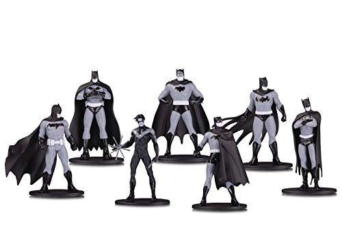 DC Collectibles Batman Black & White Mini Figure 7 Pack Box Set - Collectibles Set Mini