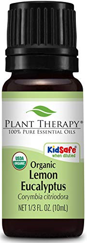 Plant Therapy Lemon Eucalyptus Organic Essential Oil 100% Pure, USDA Certified Organic, Undiluted, Natural Aromatherapy, Therapeutic Grade 10 mL (1/3 oz) (Best Hand Sanitizer Brands In India)