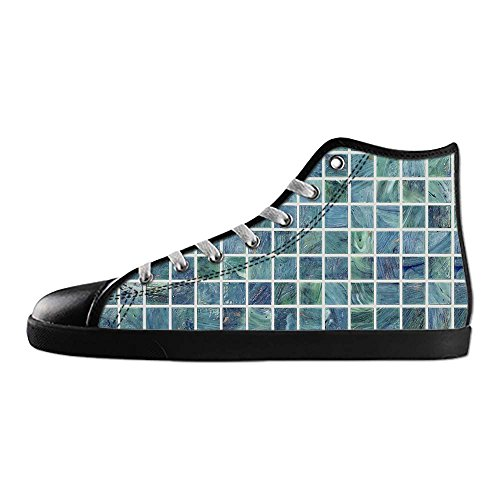 Dalliy Glas Mosaik Fliesen Textur Mens Canvas shoes Schuhe Lace-up High-top Sneakers Segeltuchschuhe Leinwand-Schuh-Turnschuhe E