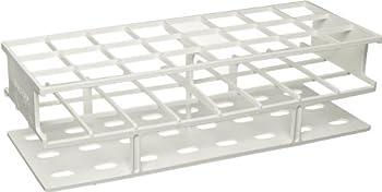 Nalgene 5970-0030 Acetal Plastic Unwire Test Tube Rack for 30mm Test Tubes, White