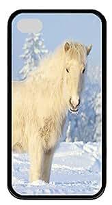 iPhone 4S CaseYakutian Horse TPU Custom iPhone 4/4S Case Cover Black