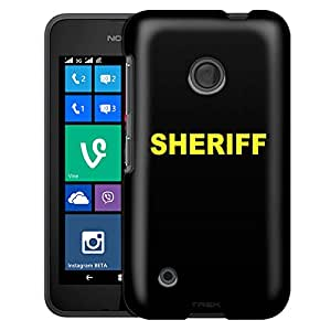 Nokia Lumia 530 Case, Slim Fit Snap On Cover by Trek Sheriff on Black Case