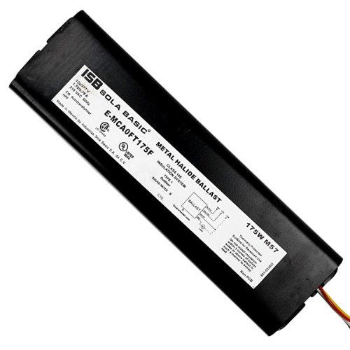 Sola E-MCA0FT175F - 175 Watt - F-Can Metal Halide Ballast - 120/277 Volt - ANSI M57 or H39 - Power Factor 90 -
