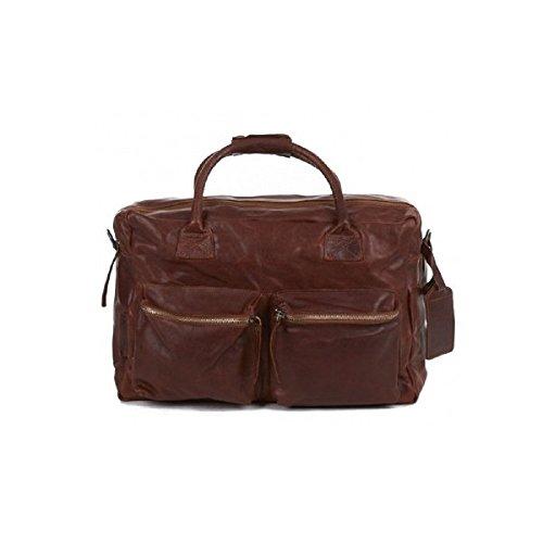 Damen und Herren Riemen bzw Handtasche  Dallas von Legend - Farbe Tan brau in Echtleder Reisetasche Buisnesstasche Alltagstasche Größe 42-28-16 cm