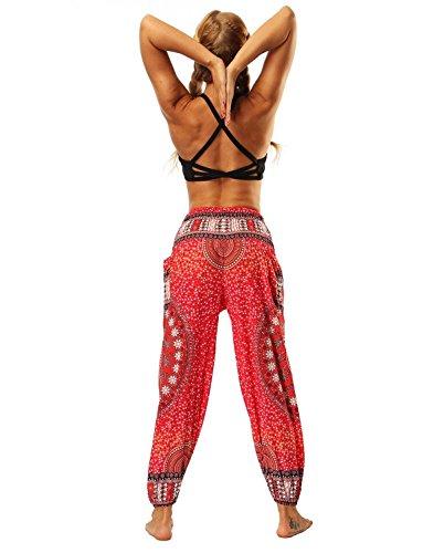 Pluderhose Rot Baggy Pantaloni Harem Pantaloni Yoga Stampato Pantaloni Pantaloni Stoffachic Estivi Tempo Libero nbsp; Mandalas Donna Screenes Di Wwa4qYUA