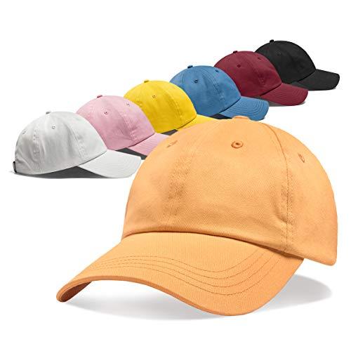 ZOWYA Cotton Plain Baseball Cap for Men Women Adjustable Dad Hat 6-Panel Unstructured