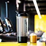 BatterBuys 100% Leak Proof Protein Shaker Blender Bottle for Whey Protein Mix, Cycling, Gym Water Bottle with Stainless…