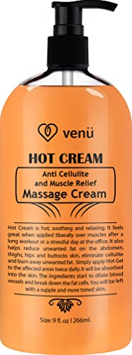 Hot Cream Anti Cellulite and Muscle Relief Cream, Muscle Massager Gel, Muscle Relaxant & Pain Relief Cream, Firms Skin Treatment - Tightens Skin, Soothes, Relaxes, 9OZ (Hotcream)