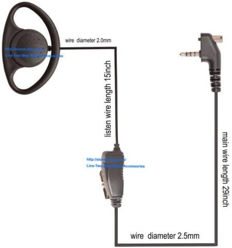 AAM21X001 Vertex Standard Earpiece Microphone MH-89A4B