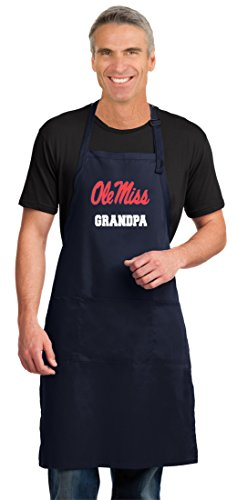 Broad Bay Ole Miss Grandpa Apron Large Size Top University of Mississippi Grandpa Gift Him or