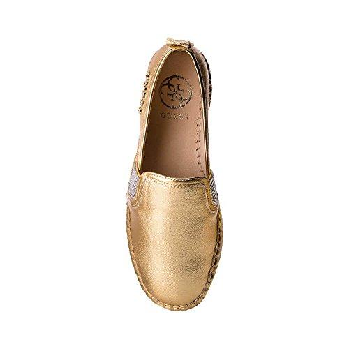 on 3 Guess Gold Espadrillas Slip Alto Fondo cm RELA Donna Mocassino Gold wwxq1FI