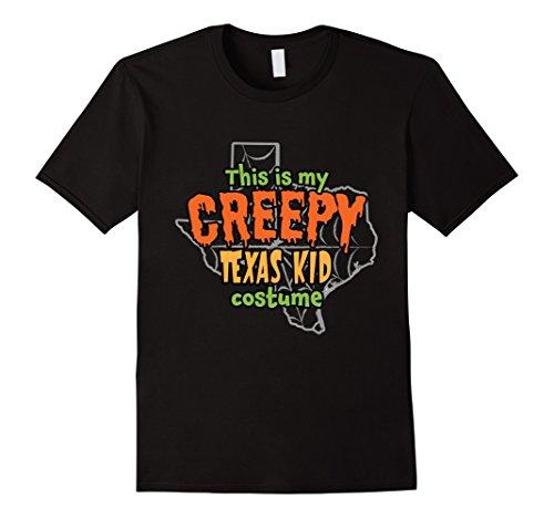 Mens Creepy Texas Kid Funny Halloween Costume T-shirt 2XL (Big Texas Halloween Party)