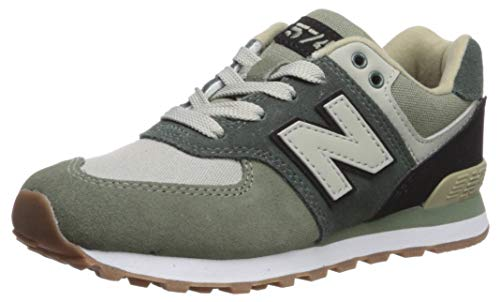 New Balance Boys' Iconic 574 Sneaker Faded Rosin/Black 8.5 W US Toddler ()