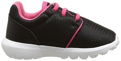 Le Coq Sportif Dynacomf Inf Mesh - Zapatos de primeros pasos Bebé-Niños Negro - Noir (Black/Honeysuckle)