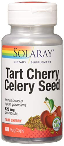 Solaray Tart Cherry & Celery Seed Fruit Extract 620 Mg Multivitamins, 60 Count