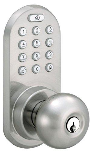 Milocks Bluetooth And Keypad Door Knob Satin Nickel Key
