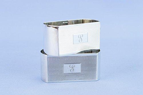 6 Sterling Silver Napkin Rings Art Deco American Vintage 1920s Box by Lavish Shoestring