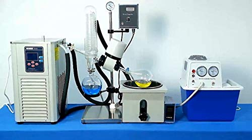 Rotary Evaporator with Chiller and Vacuum Pump 2L RE-201D for sale  Delivered anywhere in USA