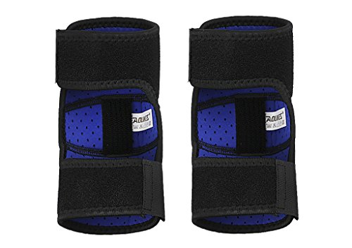 Kids Girls Boys Elbow Brace Pads Sports Protector Breathable Stretchy Crashproof Compression Football Volleyball Cycling Biking Climbing Tennis Dance Arm Cover Elbow Support Guard, 1 Pair, Black by Fakeface (Image #1)