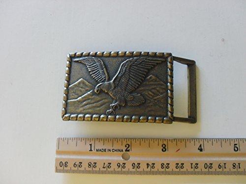 metal bronze flying eagle belt buckle (one ()