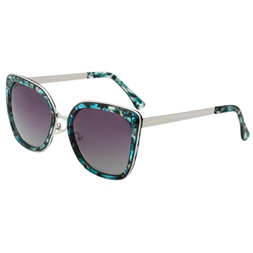 VIVIENFANG Women's Elegant Oversized Polarized Sunglasses Vintage Fashion Polarized Shades P2170A - Green Exchange Shades Of