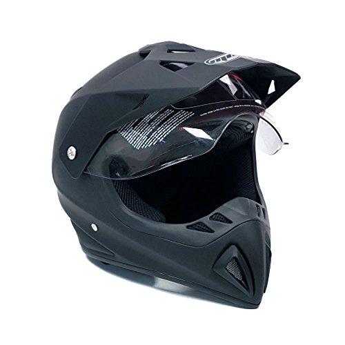 Helmet Dual Sport Off Road Motorcycle Dirt Bike ATV - FlipUp Visor - 27V (XXL, Matte Black) by MMG (Image #1)