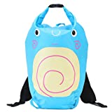 Innerest Kids Dry Bag Water Proof Resistent Backpack Sacks for camping swimming outdoor activities (Snail, 5 L)
