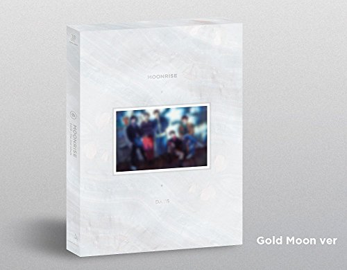 (Day6 - [Moonrise] 2nd Album Gold Moon Ver CD+88p Photobook+1p Folding Poster(On-Pack)+Clear Cover Set+2p PhotoCard+Poster K-POP Sealed)