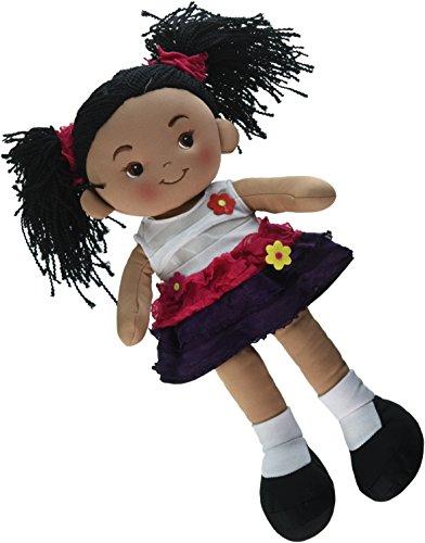 (Linzy Toys Aissa Handmade Fabric Rag Doll with Pink Dress 16 Inch)