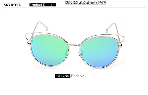 SKYDOVE 2018 Aviator Sunglasses Men Vintage Glasses Brand Design Sun Glasses Female - Sunglasses Vintage Mountaineering