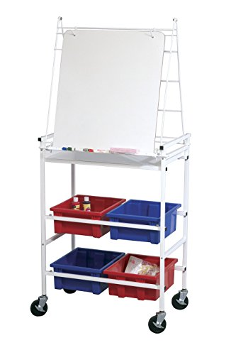 heasel Mobile Storage & Learning Dry Erase Easel, 65.5