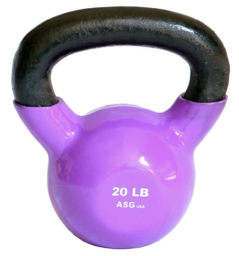 Vinyl Coated Kettlebells by ASG (Purple 20 Lb)