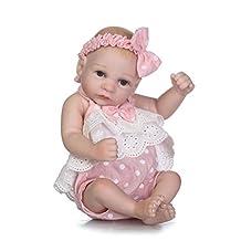 "TERABITHIA Miniature 10"" Adorable Rare Alive Reborn Baby Doll Silicone Full Body Waterproof for Girl"