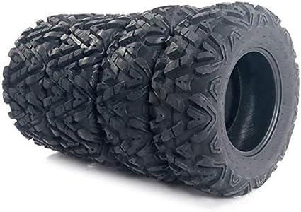 Juego de 4 neumáticos ATV/UTV 25 x 8 – 12 delanteros y 25 x 10 – 12 traseros 6 capas