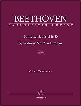 ベートーヴェン: 交響曲 第2番 ニ長調 Op.36/原典版/デル・マー編/ベーレンライター社: 批判校訂報告書(英語)