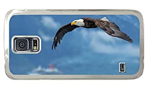 Hipster Samsung Galaxy S5 Cases Cheap price flying bald eagle PC Transparent for Samsung S5