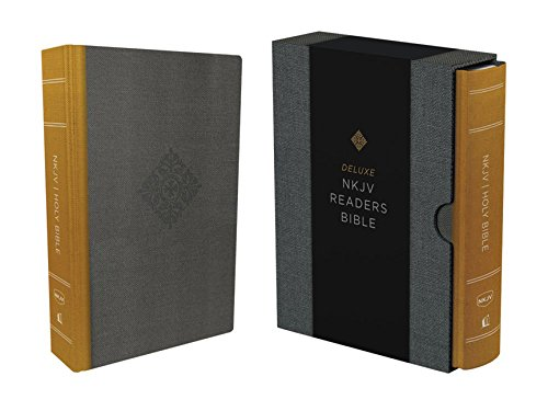 NKJV, Deluxe Reader's Bible, Cloth over Board, Yellow/Gray, Comfort Print (Just The Two Of Us Original Version)