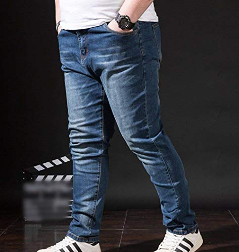 Leisure Vintage Stretch Blau Denim Fashion Jeans Skinny Uomo E Giovane Pantaloni Da Casual tZ4xawAfq