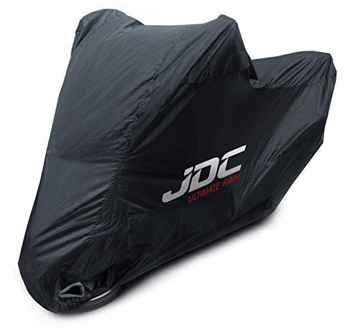 JDC Motorfiets 100% Waterdichte Hoes – Ultimate Rain (Heavy Duty, Zachte Voering, Hittebestendige Panelen, Getapete…