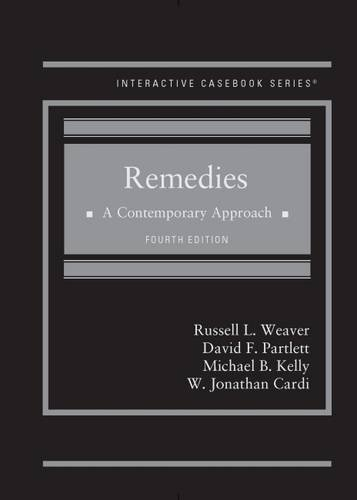 Books : Remedies, A Contemporary Approach (Interactive Casebook Series)