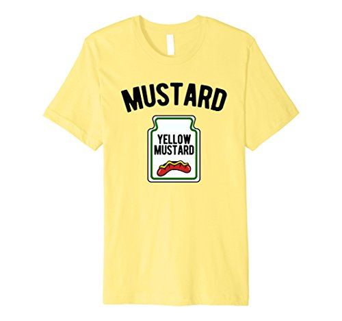 Mens Yellow Mustard Bottle - Funny Halloween Costume T-Shirt 2XL Lemon (Simple But Funny Halloween Costumes)