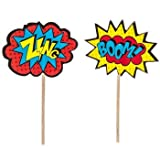Superhero Cupcake Picks Birthday Party Decoration Party Supplies 24 Count