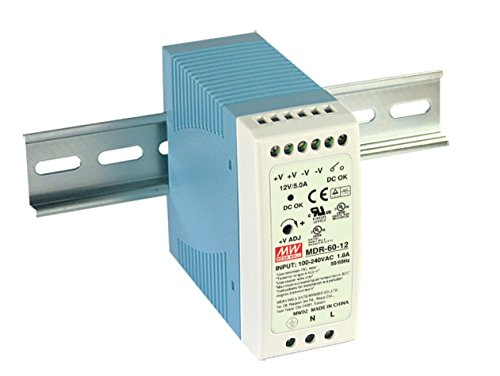 DIN Rail PS 60W 24V 1.25A MDR-60-24 Meanwell AC-DC SMPS MDR-60 Series MEAN WELL Switching Power Supply ()